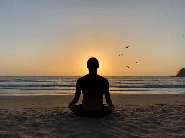 meditation on the beach at agonda